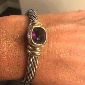 David Yurman Amethyst cuff bracelet 7mm Retired